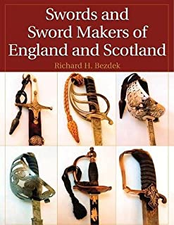 Bezdek's book shows a collage of six different sword grips on a white background. The title is white, set against a maroon background.