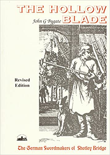 John Bygate's cover shows a swordmaker holding a sword while a dog sits at his feet, gazing up at him. The title is in red print.